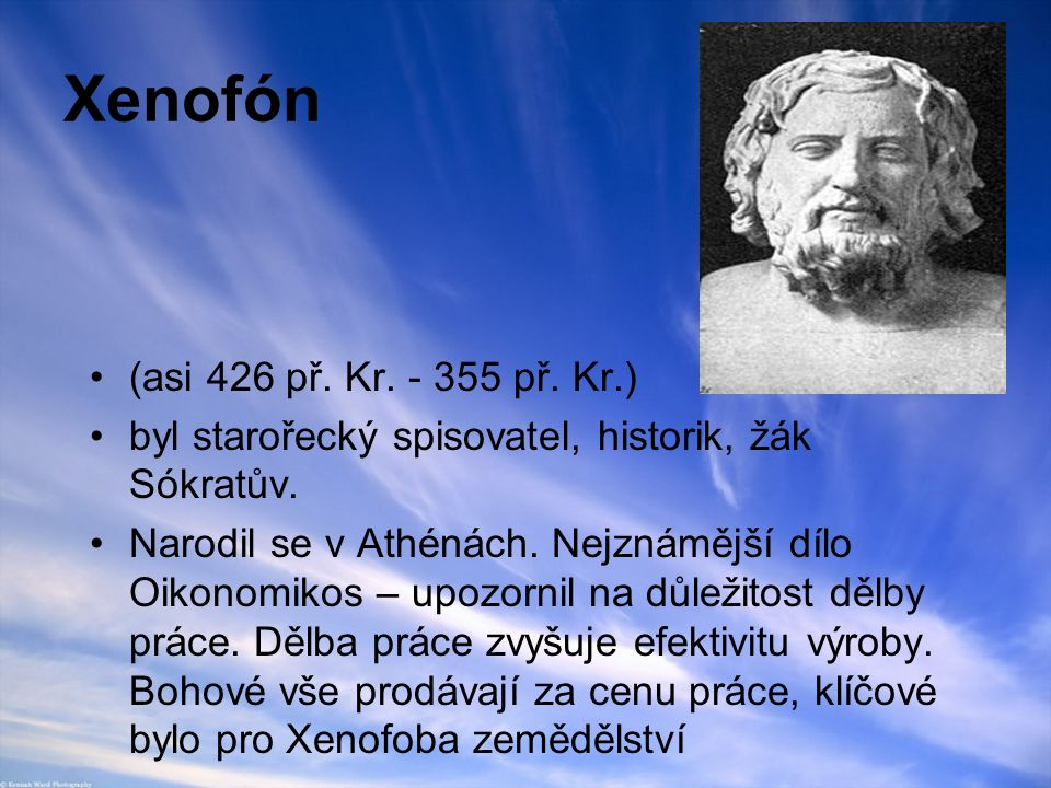 Xenofón (asi 426 př. Kr. - 355 př. Kr.)