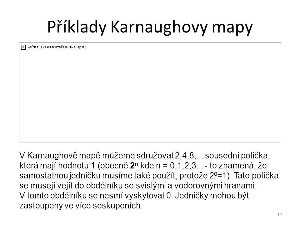 Příklady Karnaughovy mapy