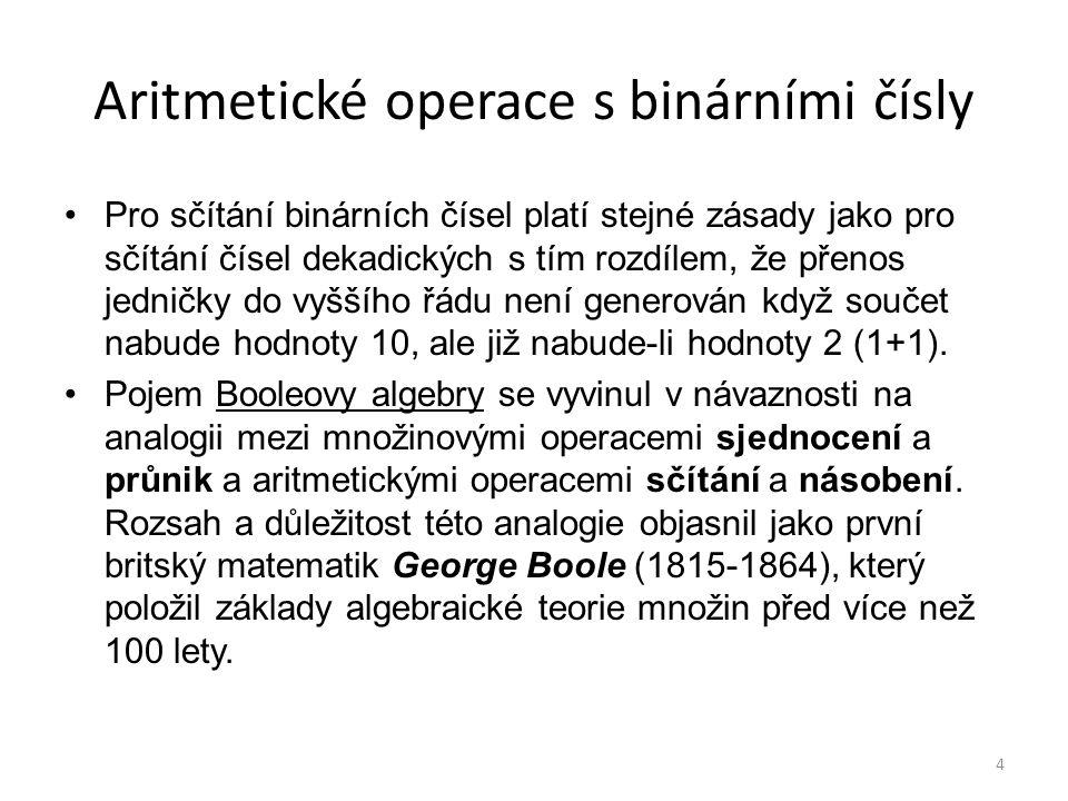 Aritmetické operace s binárními čísly