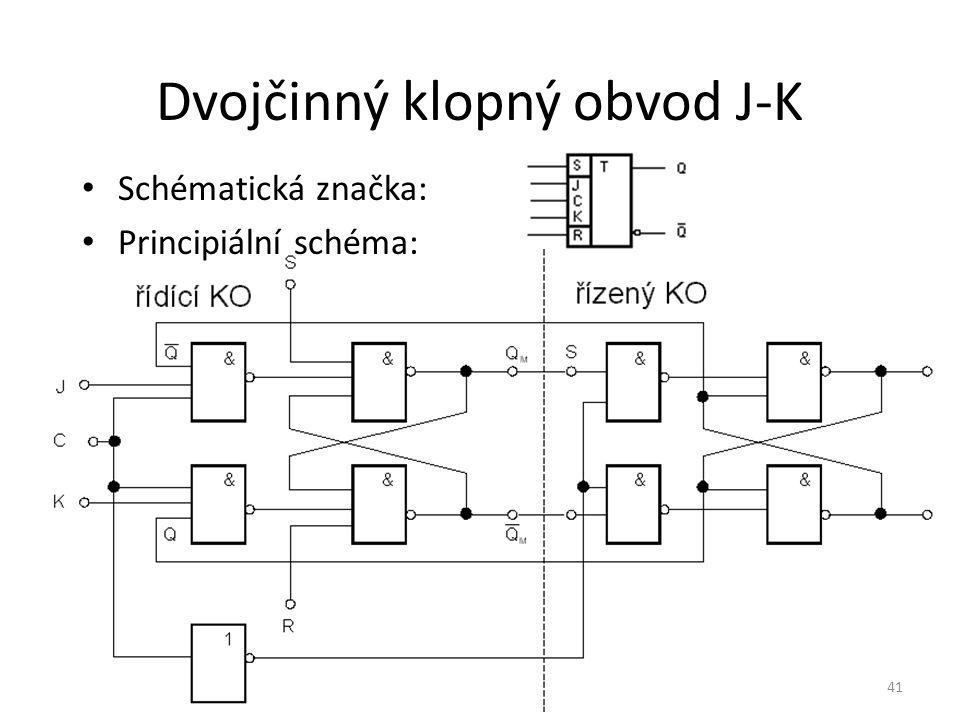 Dvojčinný klopný obvod J-K