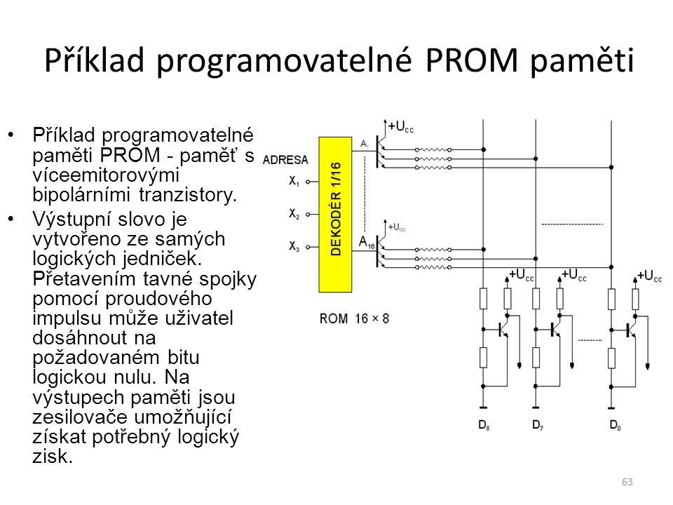 Příklad programovatelné PROM paměti
