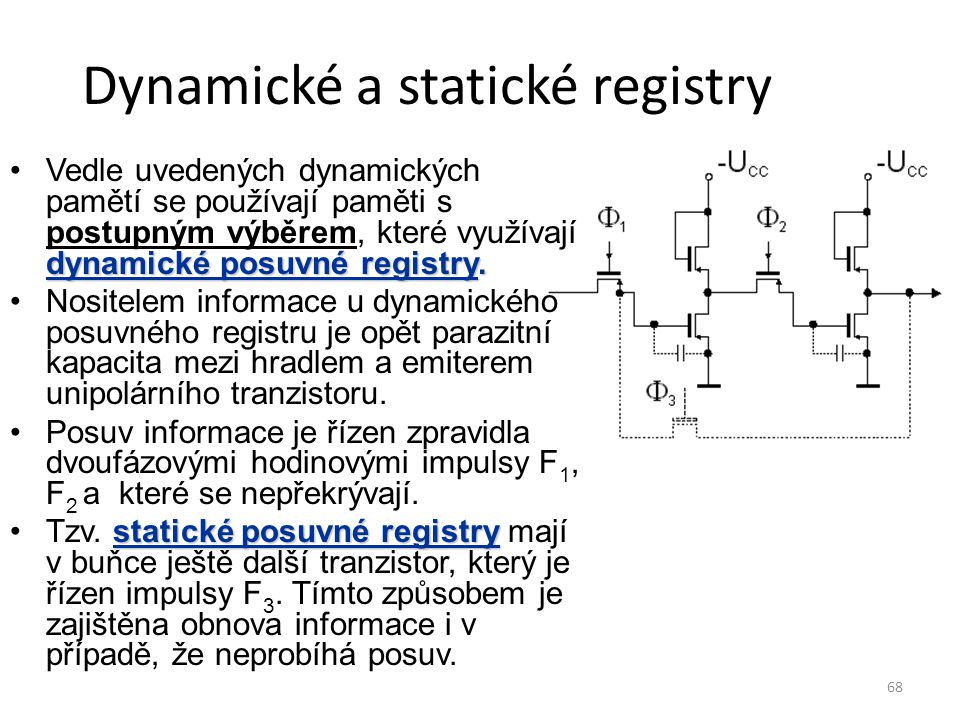 Dynamické a statické registry