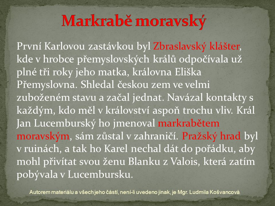 Markrabě moravský