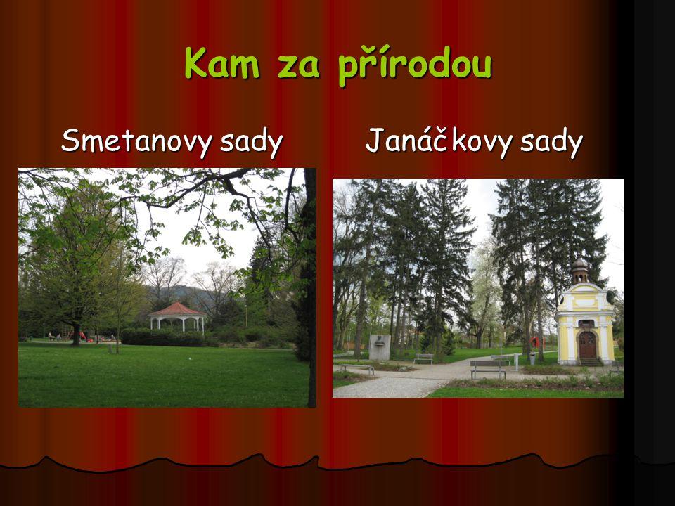 Kam za přírodou Smetanovy sady Janáčkovy sady