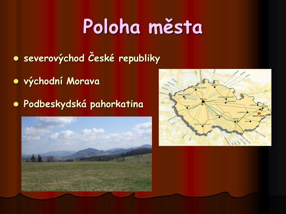 Poloha města severovýchod České republiky východní Morava