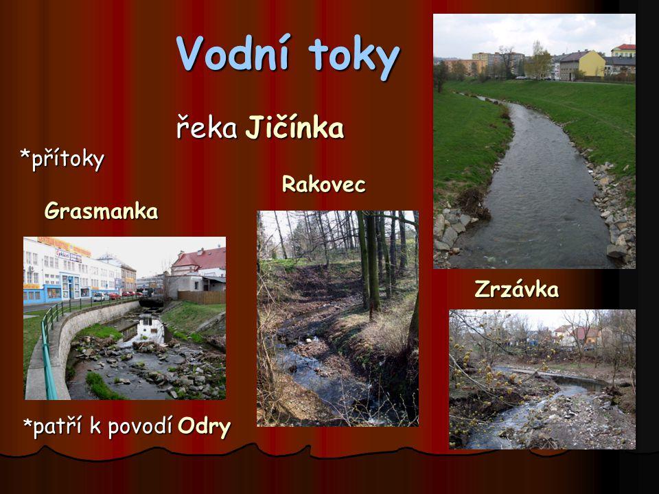 Vodní toky řeka Jičínka *přítoky Rakovec Grasmanka Zrzávka