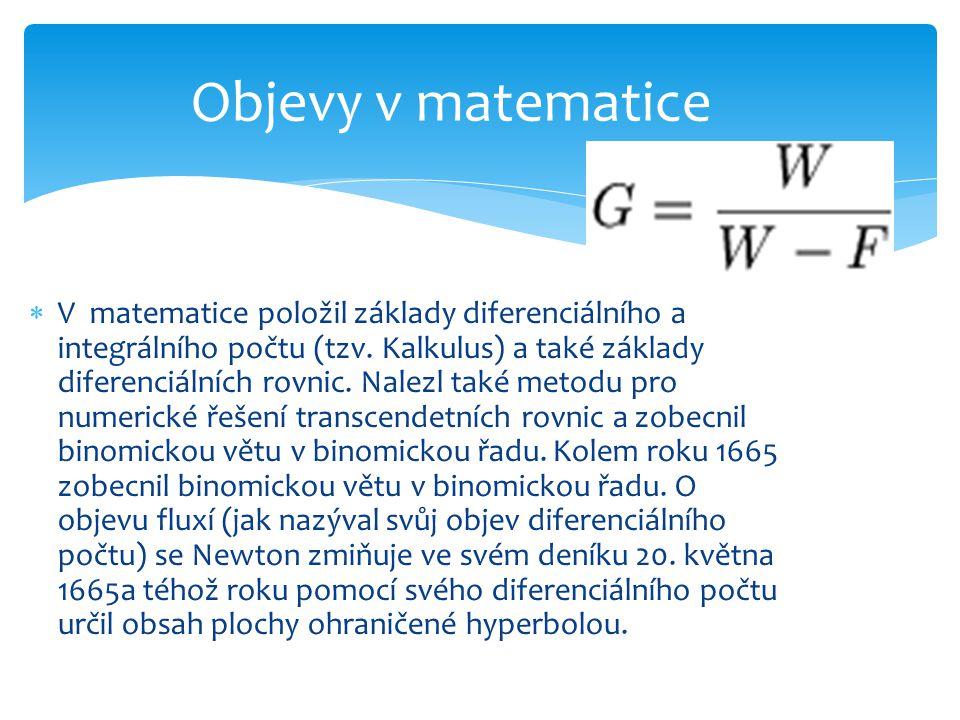 Objevy v matematice