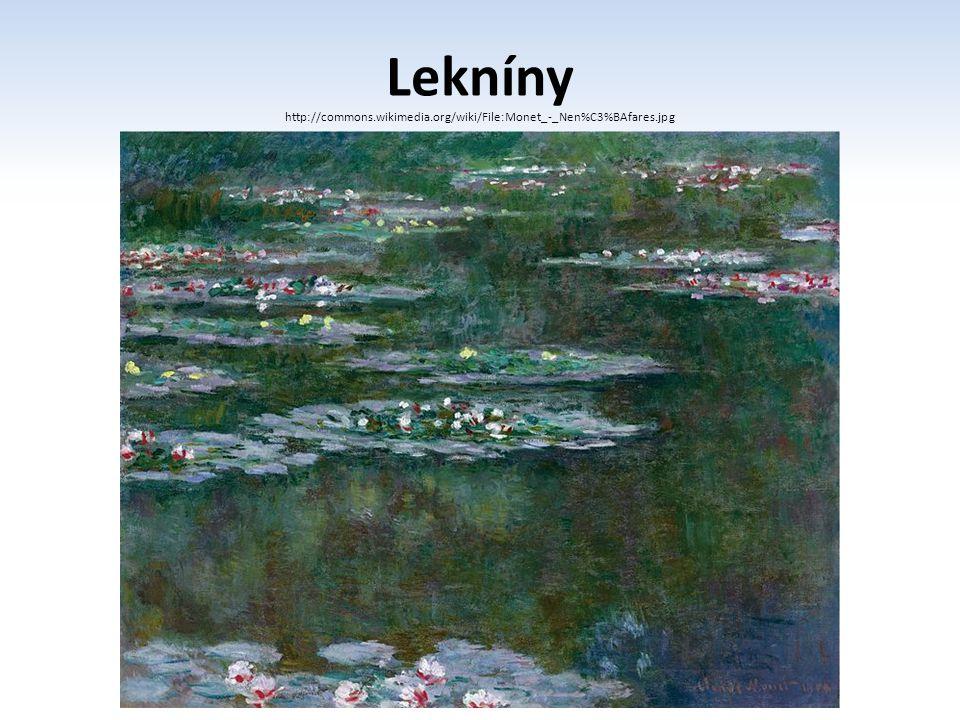 Lekníny http://commons.wikimedia.org/wiki/File:Monet_-_Nen%C3%BAfares.jpg