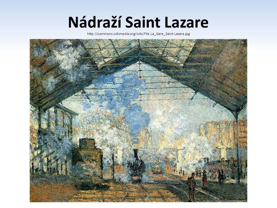 Nádraží Saint Lazare http://commons.wikimedia.org/wiki/File:La_Gare_Saint-Lazare.jpg