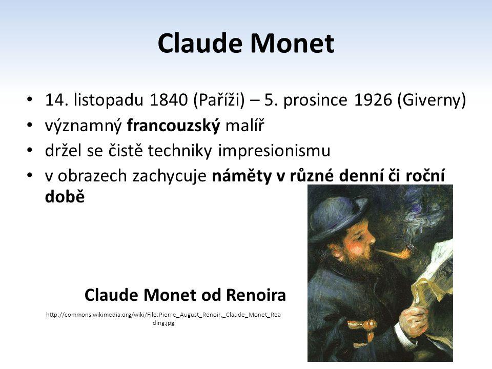 Claude Monet od Renoira