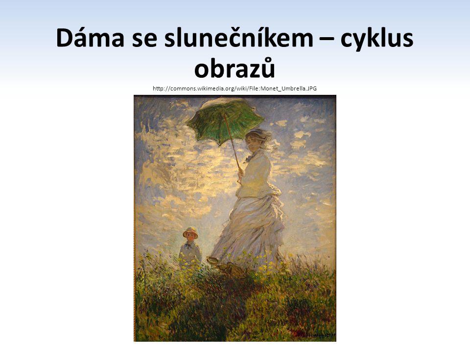 Dáma se slunečníkem – cyklus obrazů