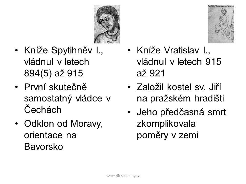 Kníže Spytihněv I., vládnul v letech 894(5) až 915