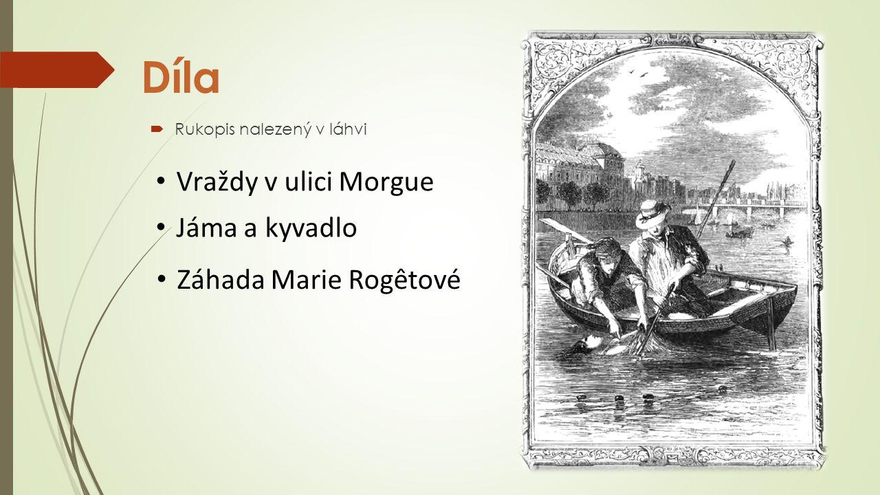 Díla Vraždy v ulici Morgue Jáma a kyvadlo Záhada Marie Rogêtové