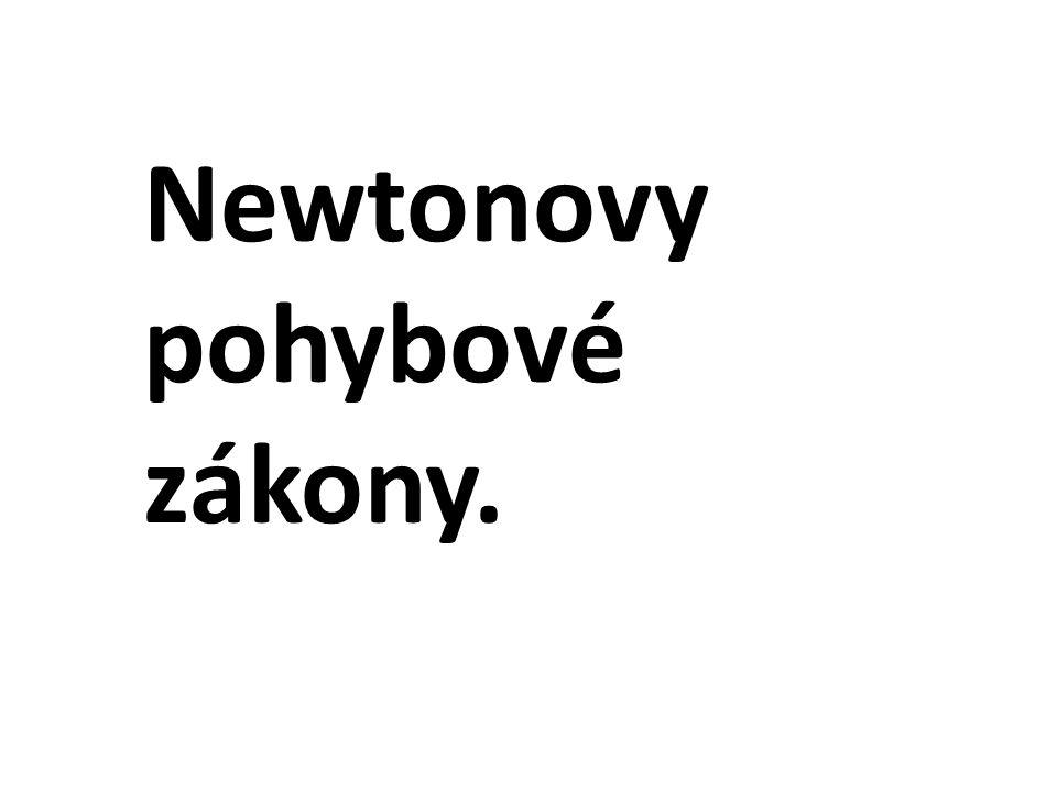 Newtonovy pohybové zákony.
