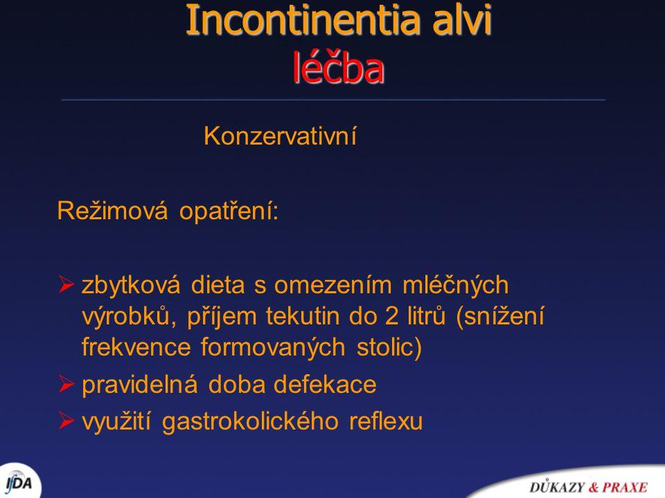Incontinentia alvi léčba