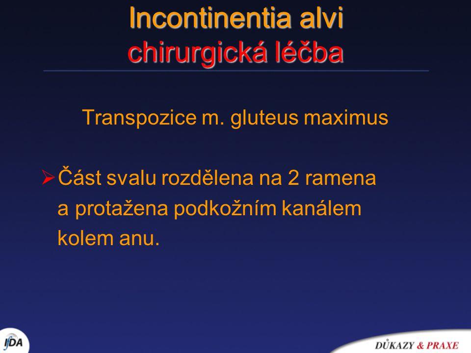 Incontinentia alvi chirurgická léčba