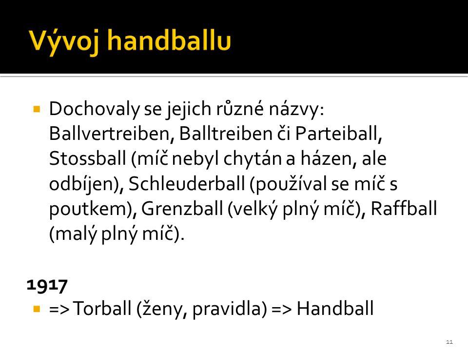 Vývoj handballu