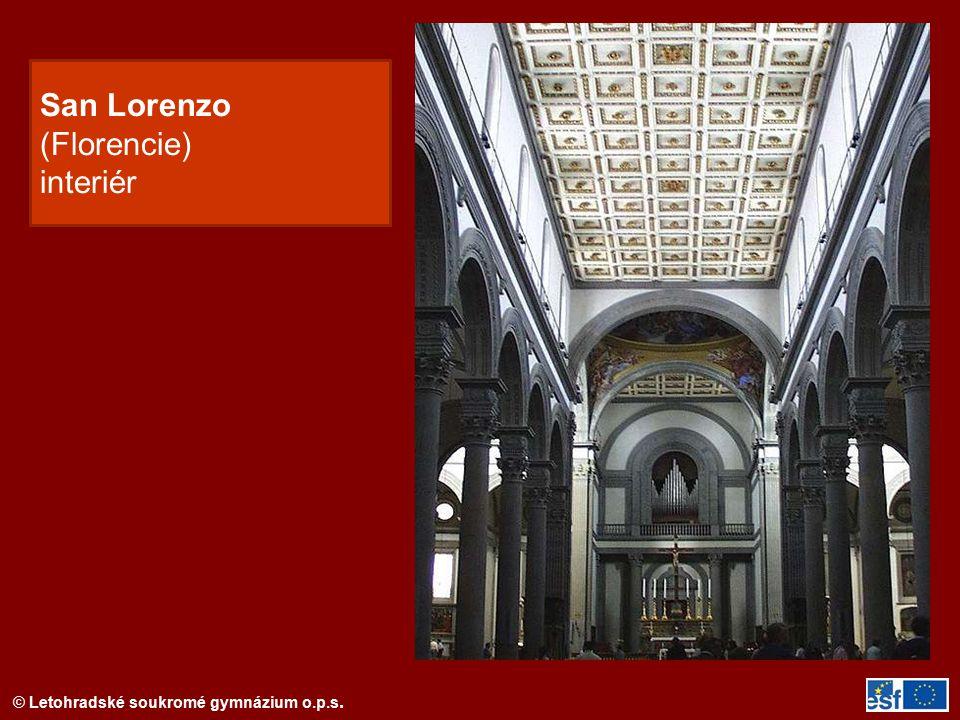 San Lorenzo (Florencie) interiér