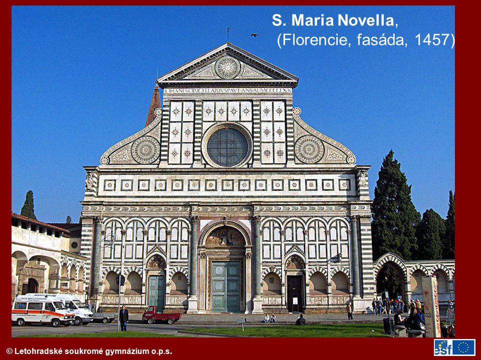 S. Maria Novella, (Florencie, fasáda, 1457)