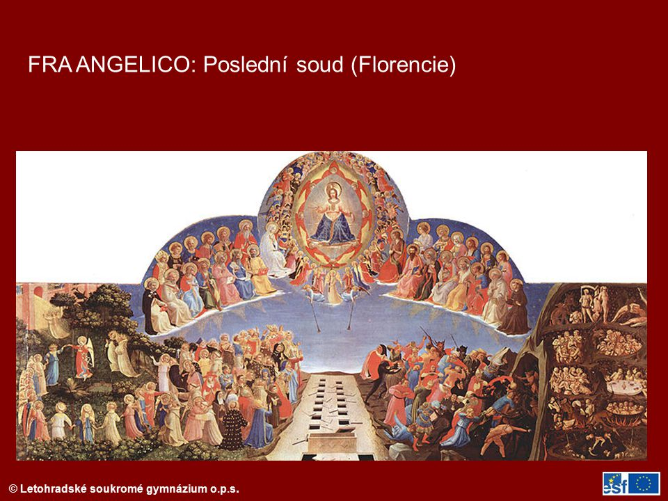 FRA ANGELICO: Poslední soud (Florencie)