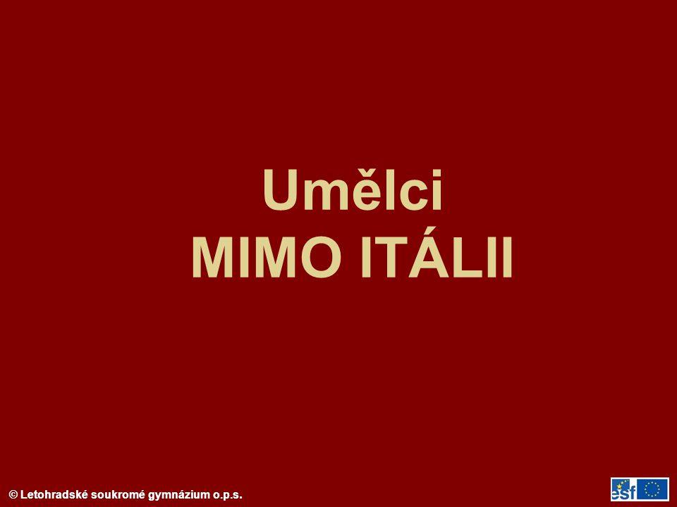 Umělci MIMO ITÁLII