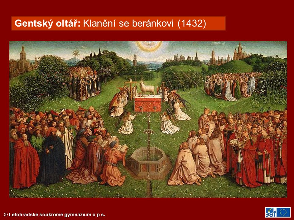 Gentský oltář: Klanění se beránkovi (1432)