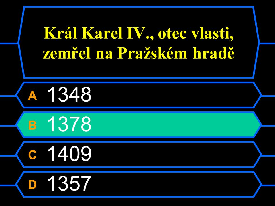 Král Karel IV., otec vlasti, zemřel na Pražském hradě