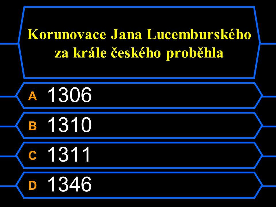 Korunovace Jana Lucemburského za krále českého proběhla