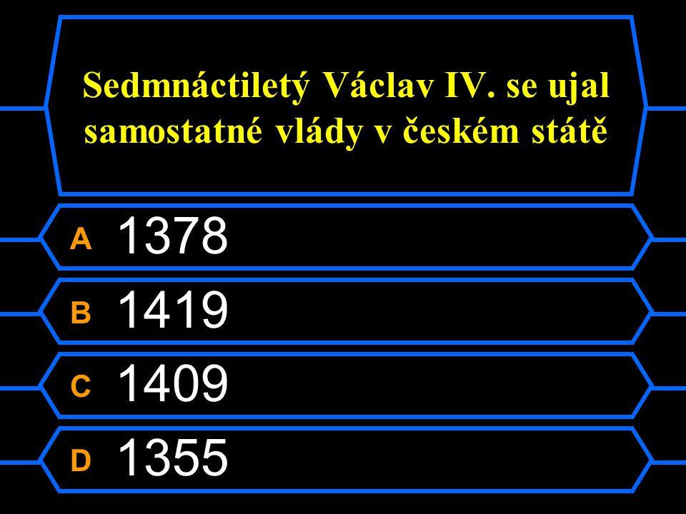 Sedmnáctiletý Václav IV. se ujal samostatné vlády v českém státě