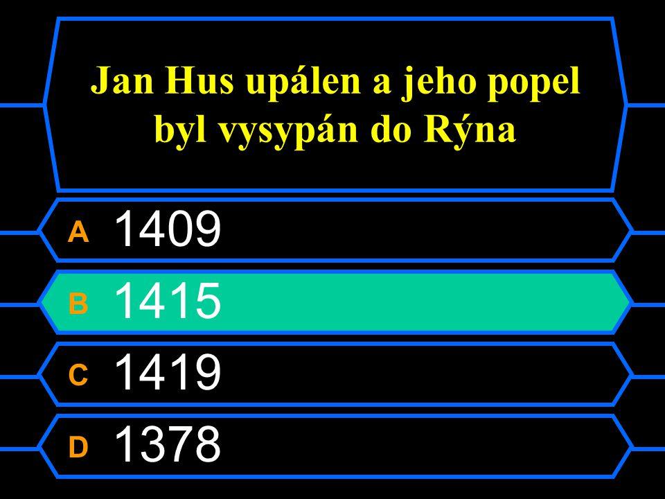 Jan Hus upálen a jeho popel byl vysypán do Rýna