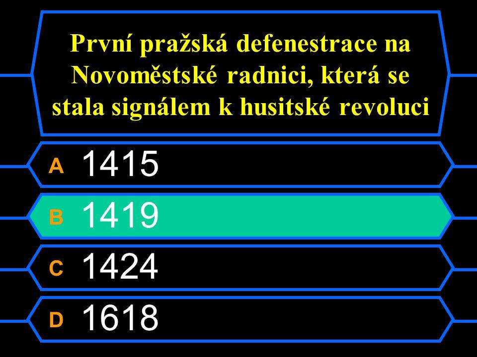 První pražská defenestrace na Novoměstské radnici, která se stala signálem k husitské revoluci