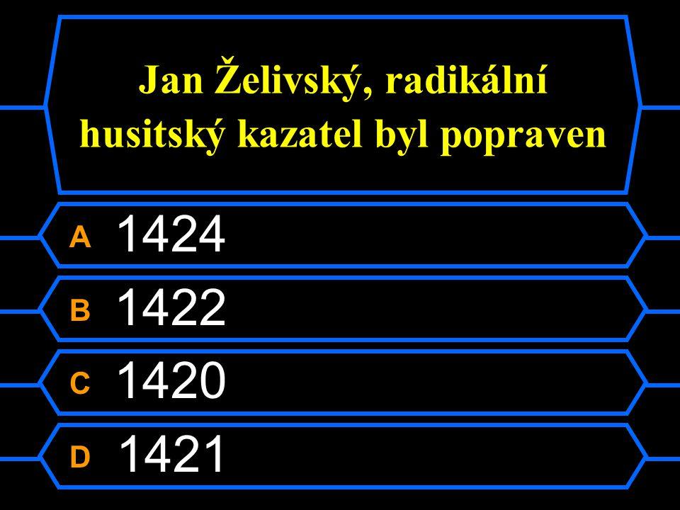 Jan Želivský, radikální husitský kazatel byl popraven