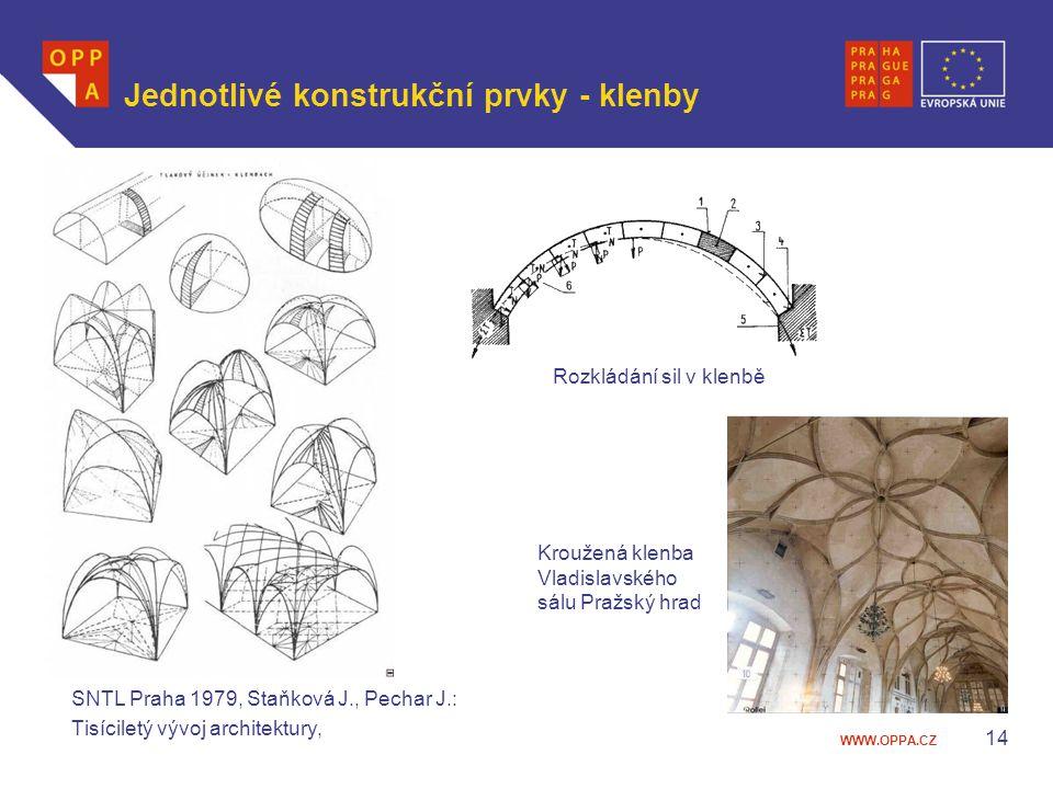 Jednotlivé konstrukční prvky - klenby