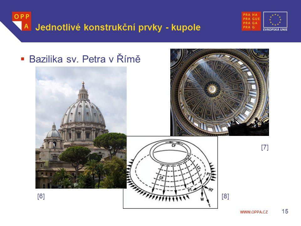 Jednotlivé konstrukční prvky - kupole