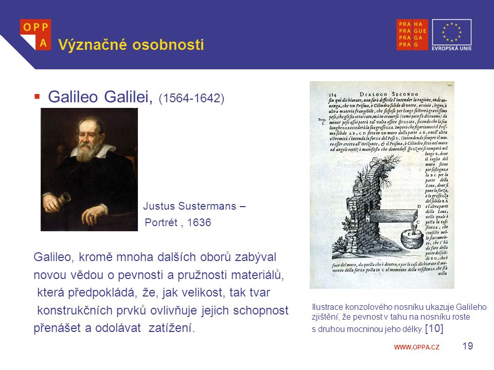 Galileo Galilei, (1564-1642) Význačné osobnosti Justus Sustermans –
