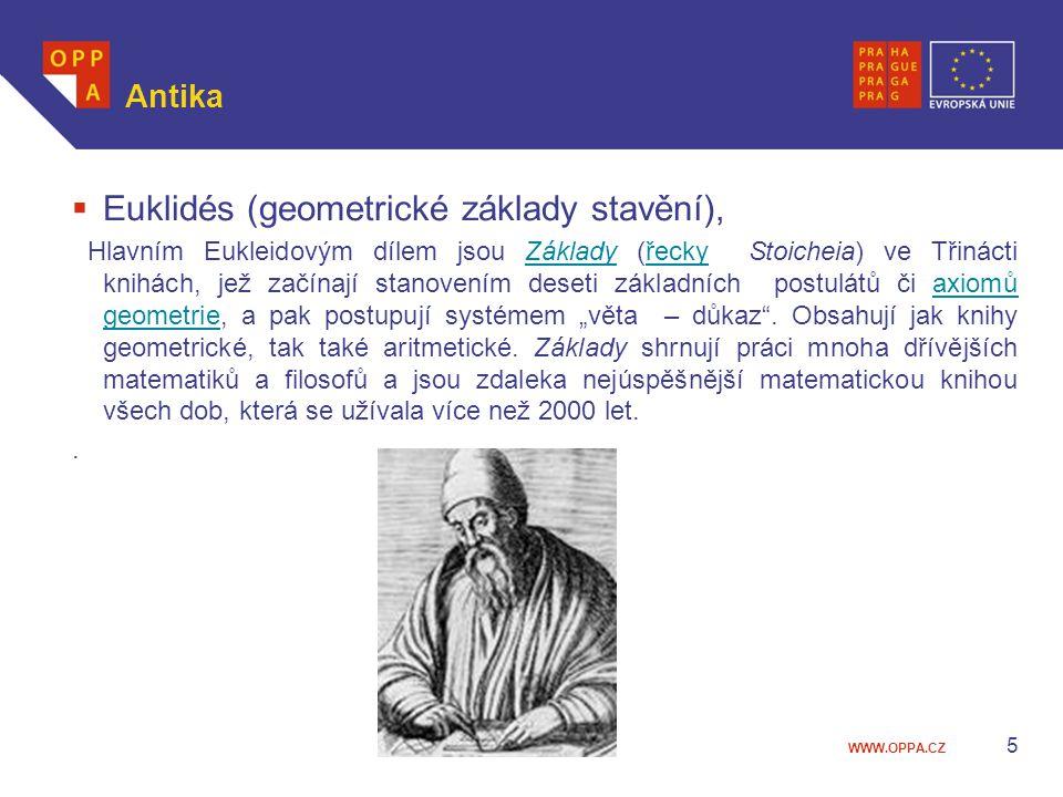 Euklidés (geometrické základy stavění),