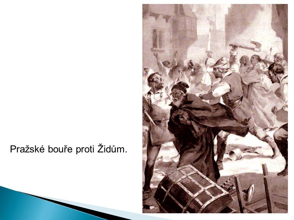 Pražské bouře proti Židům.