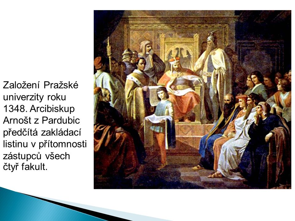 Založení Pražské univerzity roku 1348