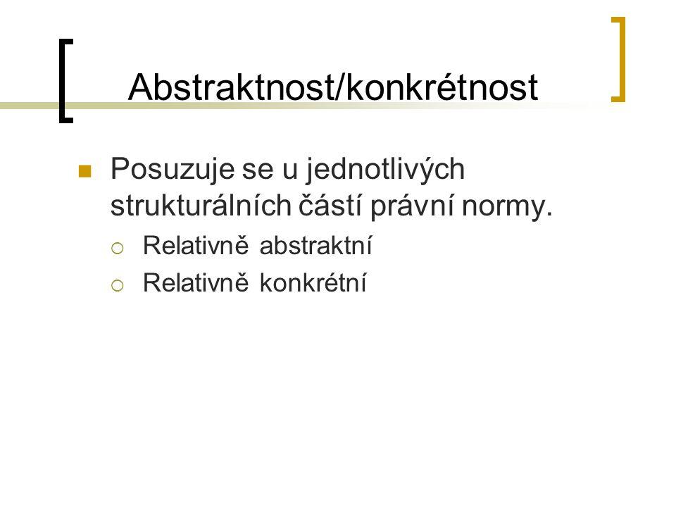 Abstraktnost/konkrétnost