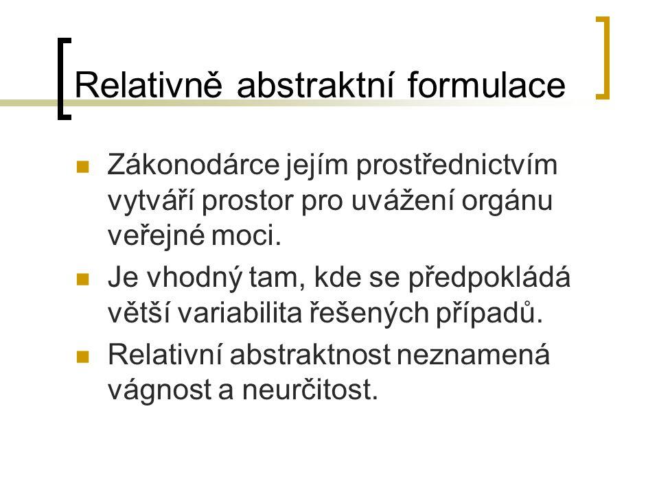 Relativně abstraktní formulace