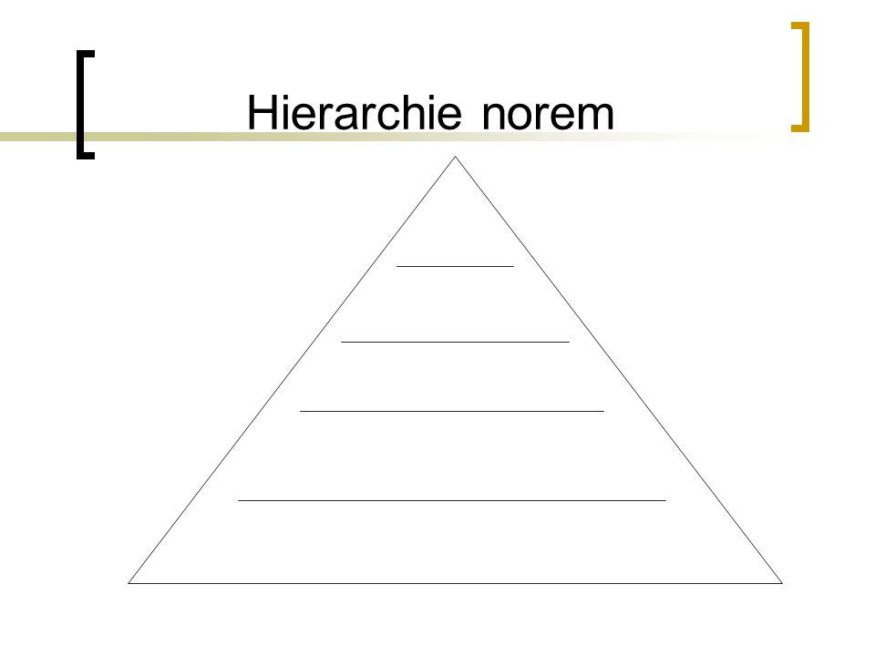 Hierarchie norem