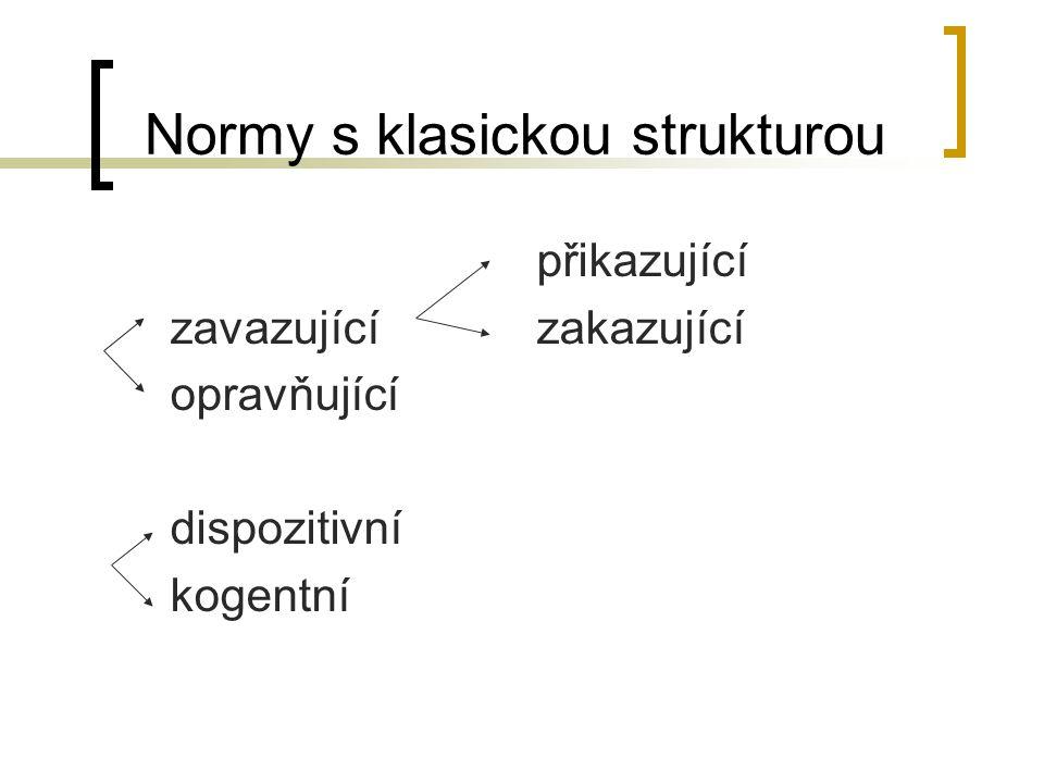 Normy s klasickou strukturou