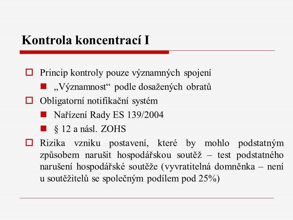 Kontrola koncentrací I