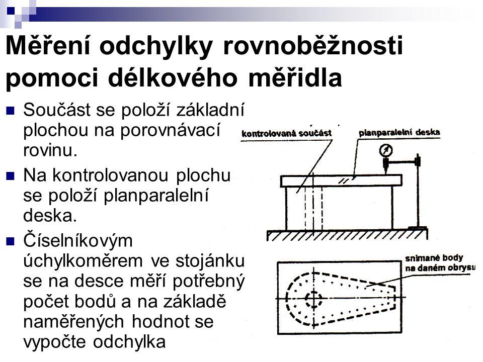 Měření odchylky rovnoběžnosti pomoci délkového měřidla