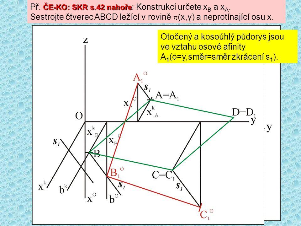 Př. ČE-KO: SKR s.42 nahoře: Konstrukcí určete xB a xA.