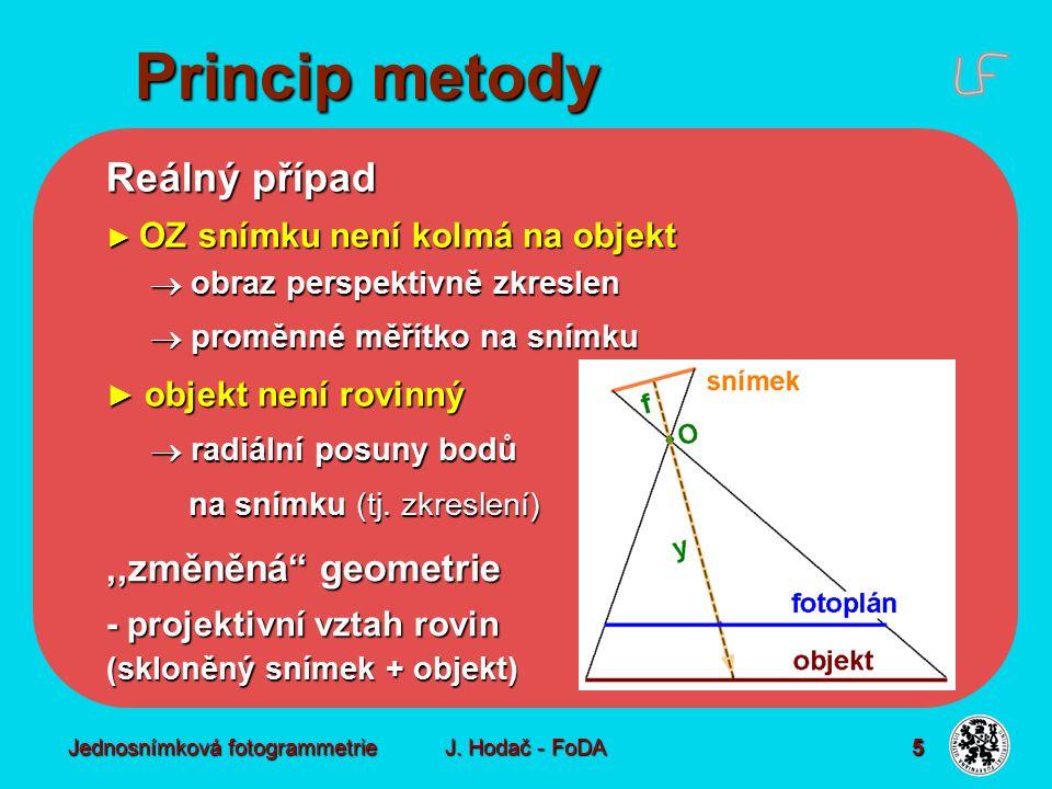 Matematické základy Geometrické vyjádření  projektivní vztah