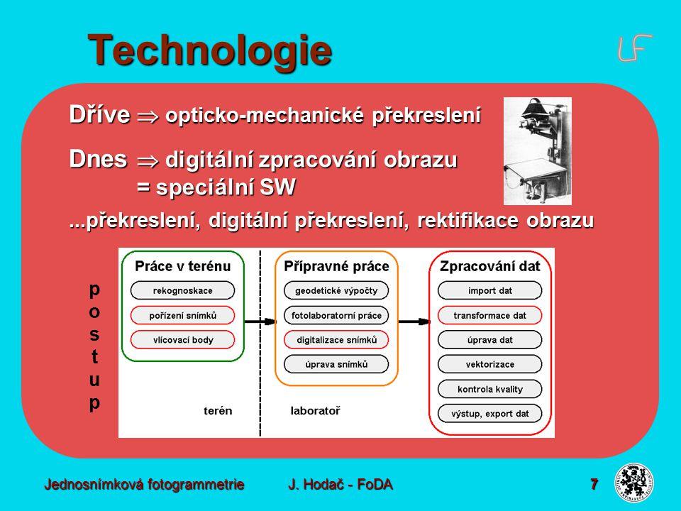 Technologie - terén pořízení snímků