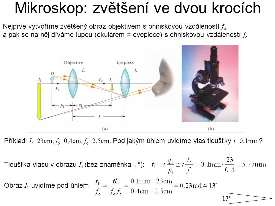 Mikroskop: zvětšení ve dvou krocích