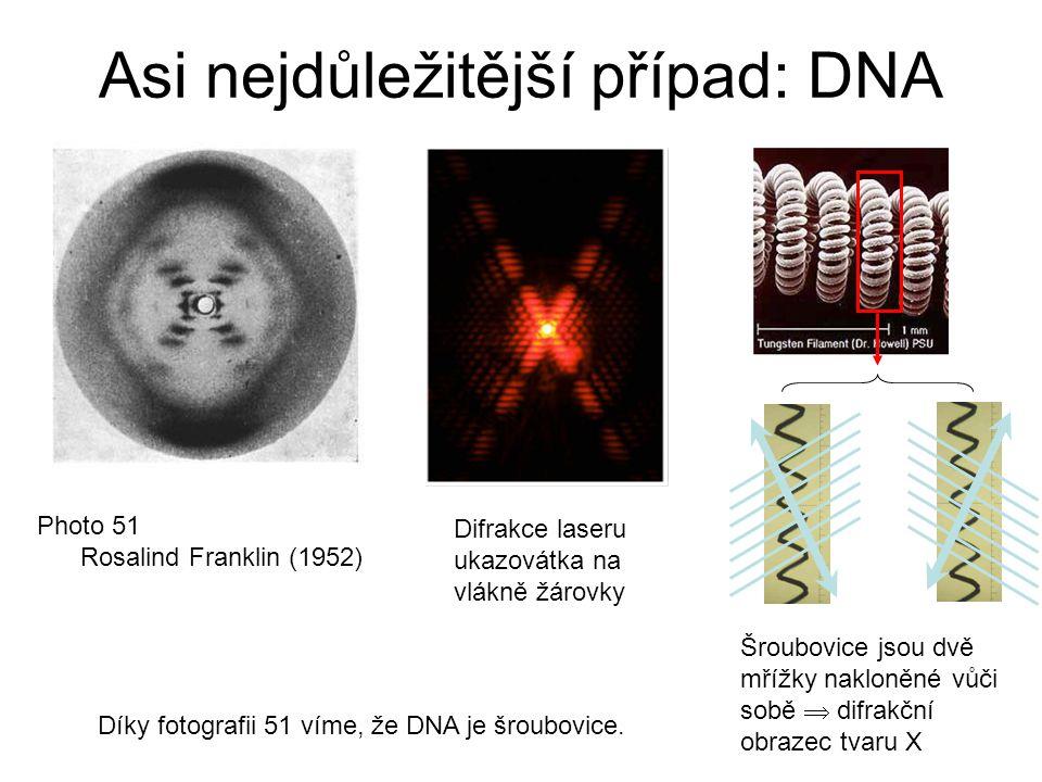 Asi nejdůležitější případ: DNA