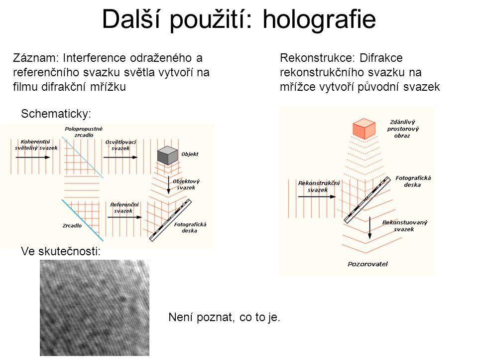Další použití: holografie